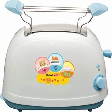 【KRIA可利亞】烘烤二用笑臉麵包機(藍)