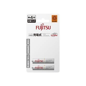日本富士通低自放電充電電池-4號2入750mAh