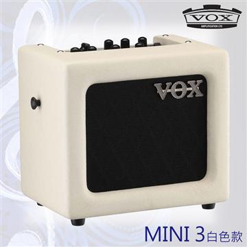 VOX MINI3 可攜式類比吉他擴大音箱-白