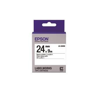 【客訂商品】EPSON LK-6WBN Common 白底黑字標籤帶