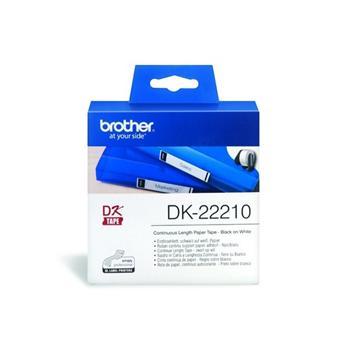 Brother DK-22210耐用型紙質連續標籤帶卡匣