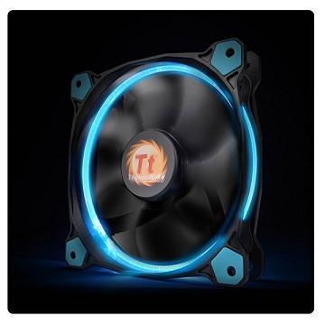 曜越Riing 12CMLED高風壓水冷排風扇(藍光)
