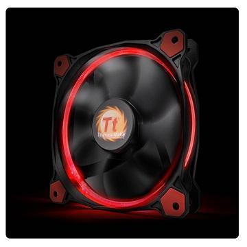 曜越Riing 12CMLED高風壓水冷排風扇(紅光)
