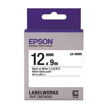 【客訂商品】EPSON LK-4WBN Common系列白底黑字標籤帶 C53S654401
