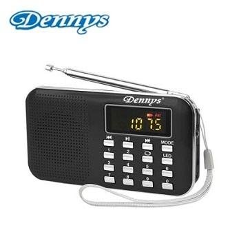Dennys USB/SD/MP3/FM/AM 超薄插卡音箱喇叭-黑