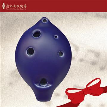 南投鼎記 中音C調6孔陶笛-寶藍色