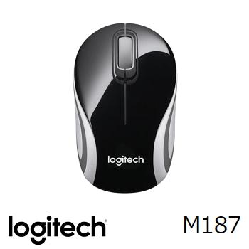 羅技 Logitech M187 無線迷你滑鼠 - 黑 910-002744