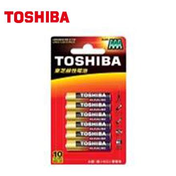 東芝TOSHIBA 鹼4號電池6入卡裝