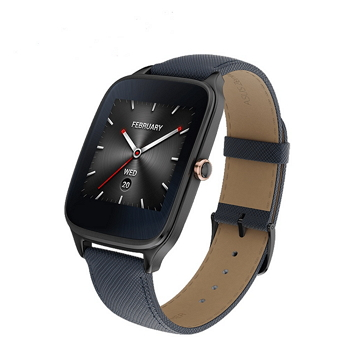 【展示品】ASUS ZenWatch 2智慧錶 - 真皮伯爵藍 WI501Q-2LBLU0010
