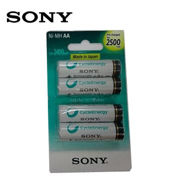 SONY新型低自放充電電池3號4入(2500mAh)