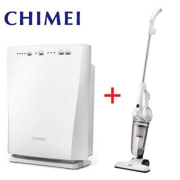 CHIMEI 抗敏型空氣清淨機+手持直立兩用HEPA吸塵器