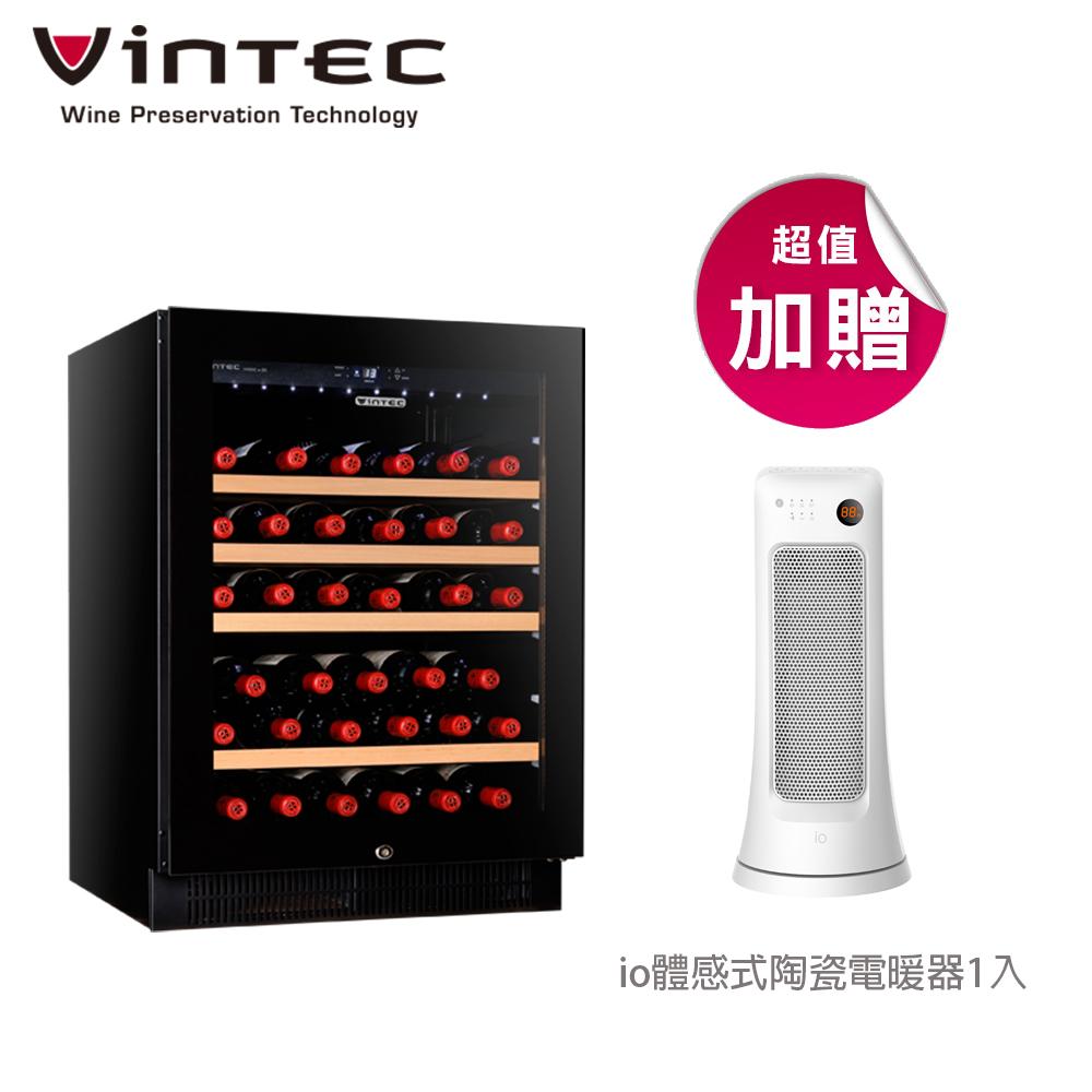 ★贈io體感式陶瓷電暖器★VINTEC 單門單溫恆溫酒櫃 V40SGe BK