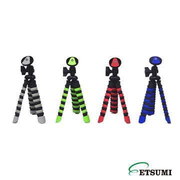 日本ETSUMI手機魔術腳架(E2088+手機夾)-藍 (E2088+手機夾)