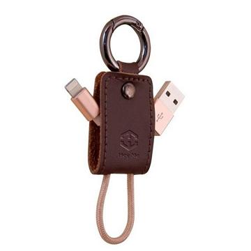 黑米 Android鑰匙扣充電數據線-棕