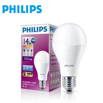 飛利浦全電壓 LED燈泡14W黃光