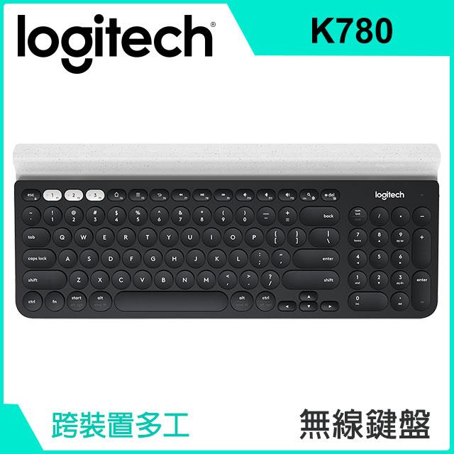 【拆封品】羅技 Logitech K780 跨平台藍牙鍵盤 920-008029