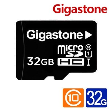 【32G / U1】Gigastone MicroSD記憶卡(附轉卡)