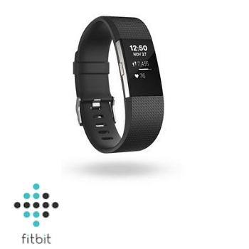 【L+S雙人限量組D】Fitbit Charge 2 心率監測手環-典雅黑