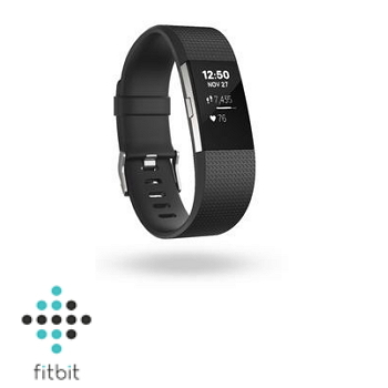 【L+S雙人限量組A】Fitbit Charge 2 心率監測手環-典雅黑