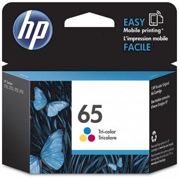 惠普HP 65 彩色原廠墨水匣