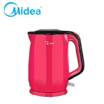 Midea Mini食代304不鏽鋼雙層防燙快煮壺-粉紅