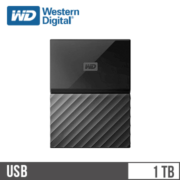 WD威騰 My Passport 2.5吋 1TB 行動硬碟 黑