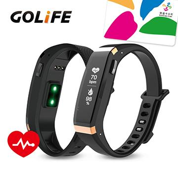 【心率款】GOLiFE Care X HR 智慧悠遊手環-金黑