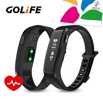 【心律款】GOLiFE Care X HR 智慧悠遊手環-黑