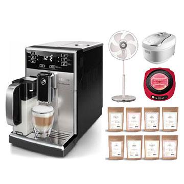 淺口袋外宿方案-金鑛精品咖啡豆48包+飛利浦Saeco PicoBaristo 全自動義式咖啡機
