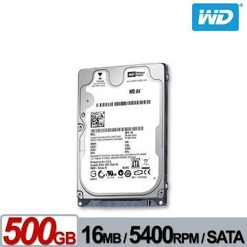 【500G】WD 2.5吋 監控用硬碟