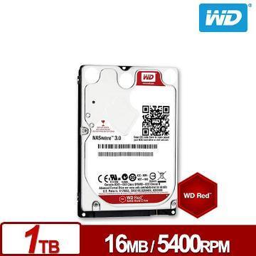 【1TB】WD 2.5吋 NAS專用硬碟(紅標)