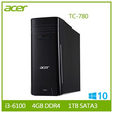 【福利品】Acer TC-780 Ci3-6100 桌上型電腦