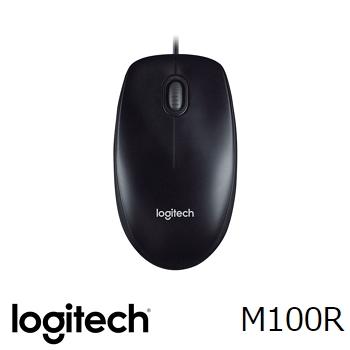 羅技 Logitech M100R 2017 有線光學滑鼠