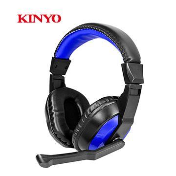KINYO 頭戴式立體聲耳機麥克風 EM-3653