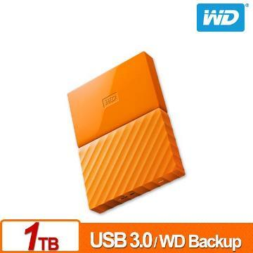 WD 2.5吋 1TB行動硬碟WESN My Passport(橘) WDBYNN0010BOR-WESN