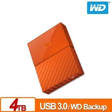 WD 2.5吋 4TB行動硬碟WESN My Passport(橘)