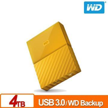 WD 2.5吋 4TB行動硬碟WESN My Passport(黃)