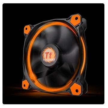 曜越Riing 12CM LED高風壓水冷排風扇(橘光) CL-F038-PL12OR-A