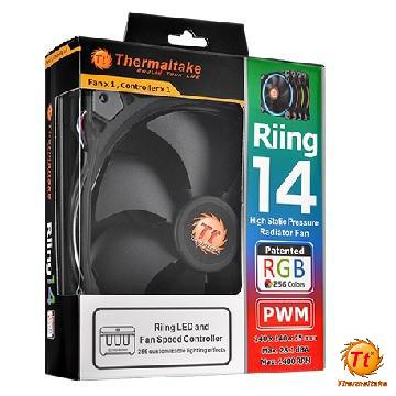 曜越Riing 14RGB水冷排風扇