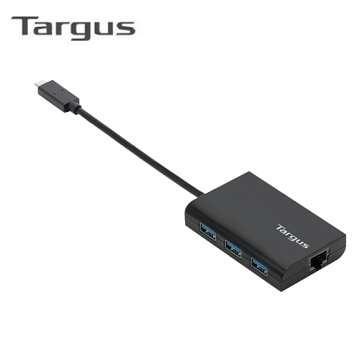 Targus ACH230 Type-C USB3.0 HUB+網路孔