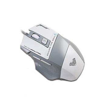 AULA狼蛛 SI928SW弒魂二代電競滑鼠-白 SI-928SW