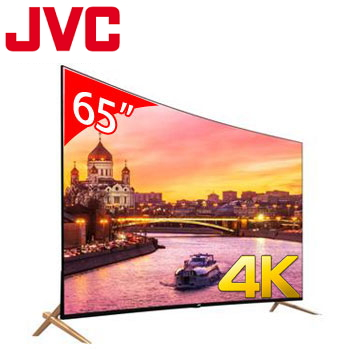【福利品】JVC 65型廣色域4K LED曲面智慧聯網顯示器