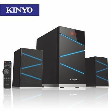 【福利品】KINYO 2.1聲道全木質讀卡音箱