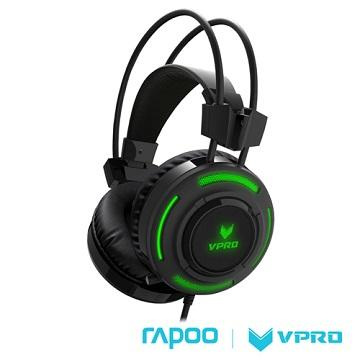 雷柏 VPRO VH200 RGB炫光遊戲耳機 - 黑