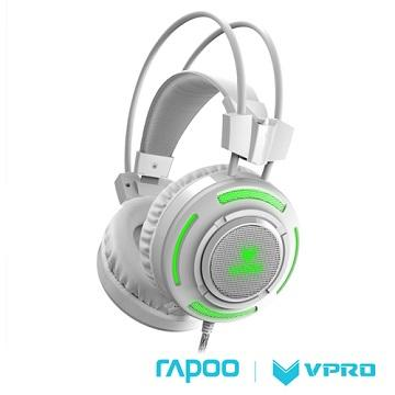 雷柏 VPRO VH200 RGB炫光遊戲耳機-白 VH200-WHITE