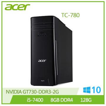 【福利品】Acer TC-780 i5-7400 GT730 8G RAM 128SSD桌上型主機