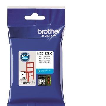 Brother LC-3619XLC 藍色墨水匣