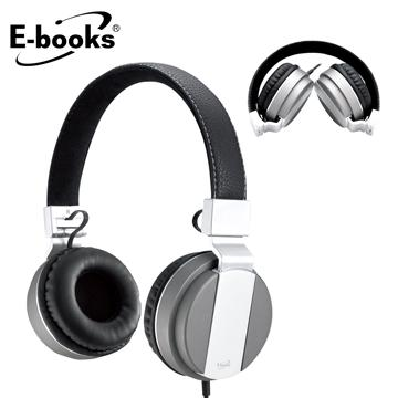 E-books S64 音控接聽頭戴摺疊耳麥 E-EPA138