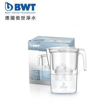 BWT德國倍世 鎂離子健康濾水壺 Slim 3.6L(雪花白)