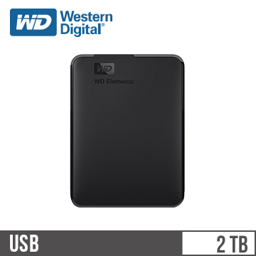 WD威騰 Elements 2.5吋 2TB 行動硬碟 WDBU6Y0020BBK-WESN
